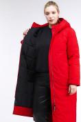 Оптом Куртка зимняя женская удлиненная красного цвета 112-919_7Kr в Екатеринбурге, фото 7