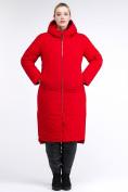 Оптом Куртка зимняя женская удлиненная красного цвета 112-919_7Kr в Екатеринбурге