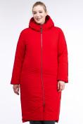 Оптом Куртка зимняя женская удлиненная красного цвета 112-919_7Kr в Екатеринбурге, фото 3