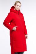 Оптом Куртка зимняя женская удлиненная красного цвета 112-919_7Kr в Екатеринбурге, фото 4