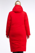 Оптом Куртка зимняя женская удлиненная красного цвета 112-919_7Kr в Екатеринбурге, фото 5