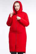 Оптом Куртка зимняя женская удлиненная красного цвета 112-919_7Kr в Екатеринбурге, фото 6