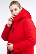 Оптом Куртка зимняя женская удлиненная красного цвета 112-919_7Kr в Екатеринбурге, фото 8