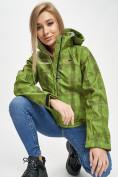 Оптом Ветровка женская зеленого цвета 1155Z в Екатеринбурге, фото 15