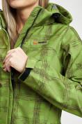 Оптом Ветровка женская зеленого цвета 1155Z в Екатеринбурге, фото 13