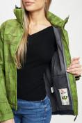 Оптом Ветровка женская зеленого цвета 1155Z в Екатеринбурге, фото 14