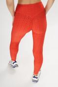 Оптом Леггинсы женские красного цвета 1165Kr в Екатеринбурге, фото 4