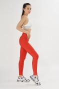 Оптом Леггинсы женские красного цвета 1165Kr в Екатеринбурге, фото 6