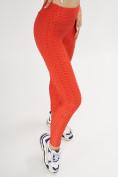 Оптом Леггинсы женские красного цвета 1165Kr в Екатеринбурге, фото 2