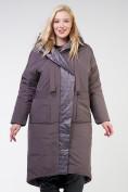 Оптом Куртка зимняя женская классическая  коричневого цвета 118-931_36K в Екатеринбурге, фото 2