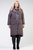 Оптом Куртка зимняя женская классическая  коричневого цвета 118-931_36K в Екатеринбурге, фото 10