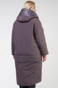 Оптом Куртка зимняя женская классическая  коричневого цвета 118-931_36K в Екатеринбурге, фото 3