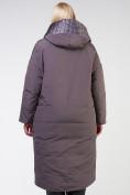 Оптом Куртка зимняя женская классическая  коричневого цвета 118-931_36K в Екатеринбурге, фото 4