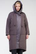 Оптом Куртка зимняя женская классическая  коричневого цвета 118-931_36K в Екатеринбурге, фото 5