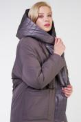 Оптом Куртка зимняя женская классическая  коричневого цвета 118-931_36K в Екатеринбурге, фото 6