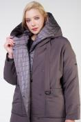 Оптом Куртка зимняя женская классическая  коричневого цвета 118-931_36K в Екатеринбурге, фото 7
