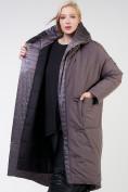 Оптом Куртка зимняя женская классическая  коричневого цвета 118-931_36K в Екатеринбурге, фото 8