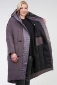 Оптом Куртка зимняя женская классическая  коричневого цвета 118-931_36K в Екатеринбурге, фото 9