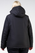 Оптом Куртка горнолыжная женская большого размера черного цвета 11982Ch в Екатеринбурге, фото 4