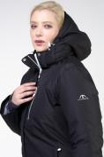 Оптом Куртка горнолыжная женская большого размера черного цвета 11982Ch в Екатеринбурге, фото 7