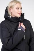 Оптом Куртка горнолыжная женская большого размера черного цвета 11982Ch в Екатеринбурге, фото 8