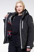 Оптом Куртка горнолыжная женская большого размера черного цвета 11982Ch в Екатеринбурге, фото 10