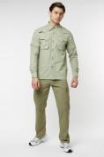 Оптом Рубашка классическая мужская бежевого цвета 12003B в Екатеринбурге, фото 3