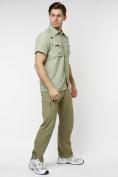 Оптом Рубашка классическая мужская бежевого цвета 12003B в Екатеринбурге, фото 12