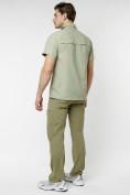Оптом Рубашка классическая мужская бежевого цвета 12003B в Екатеринбурге, фото 14