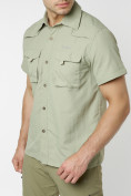 Оптом Рубашка классическая мужская бежевого цвета 12003B в Екатеринбурге, фото 15