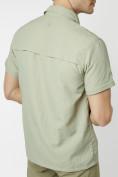 Оптом Рубашка классическая мужская бежевого цвета 12003B в Екатеринбурге, фото 16