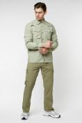 Оптом Рубашка классическая мужская бежевого цвета 12003B в Екатеринбурге, фото 4