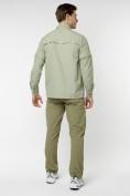 Оптом Рубашка классическая мужская бежевого цвета 12003B в Екатеринбурге, фото 5