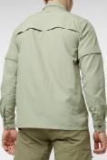 Оптом Рубашка классическая мужская бежевого цвета 12003B в Екатеринбурге, фото 7