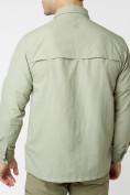 Оптом Рубашка классическая мужская бежевого цвета 12003B в Екатеринбурге, фото 8