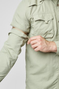 Оптом Рубашка классическая мужская бежевого цвета 12003B в Екатеринбурге, фото 10