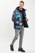 Оптом Куртка демисезонная 3 в 1синего цвета 12004S в Екатеринбурге, фото 2