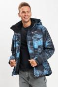 Оптом Куртка демисезонная 3 в 1синего цвета 12004S в Екатеринбурге, фото 3
