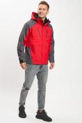 Оптом Куртка демисезонная 3 в 1 красного цвета 12005Kr в Екатеринбурге, фото 10