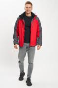 Оптом Куртка демисезонная 3 в 1 красного цвета 12005Kr в Екатеринбурге, фото 11
