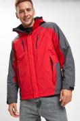 Оптом Куртка демисезонная 3 в 1 красного цвета 12005Kr в Екатеринбурге, фото 2