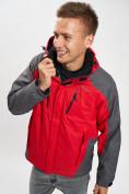 Оптом Куртка демисезонная 3 в 1 красного цвета 12005Kr в Екатеринбурге, фото 4