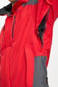 Оптом Куртка демисезонная 3 в 1 красного цвета 12005Kr в Екатеринбурге, фото 5