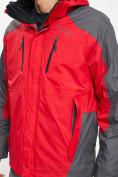 Оптом Куртка демисезонная 3 в 1 красного цвета 12005Kr в Екатеринбурге, фото 6