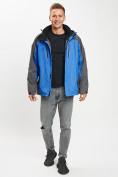 Оптом Куртка демисезонная 3 в 1 синего цвета 12005S в Екатеринбурге, фото 12