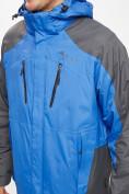 Оптом Куртка демисезонная 3 в 1 синего цвета 12005S в Екатеринбурге, фото 7