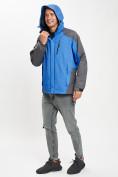 Оптом Куртка демисезонная 3 в 1 синего цвета 12005S в Екатеринбурге, фото 11