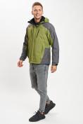 Оптом Куртка демисезонная 3 в 1 зеленого цвета 12005Z в Екатеринбурге, фото 2