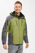 Оптом Куртка демисезонная 3 в 1 зеленого цвета 12005Z в Екатеринбурге, фото 6