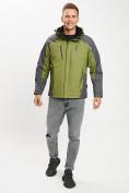 Оптом Куртка демисезонная 3 в 1 зеленого цвета 12005Z в Екатеринбурге